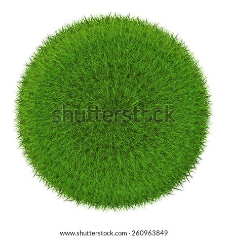 Grass sphere - green planet symbol. Isolated on a white background (eps 10) - stock vector