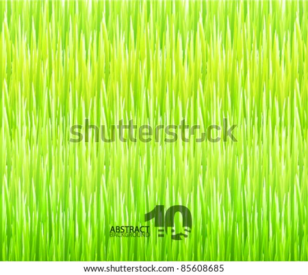 Grass texture. Vector nature abstract background - stock vector