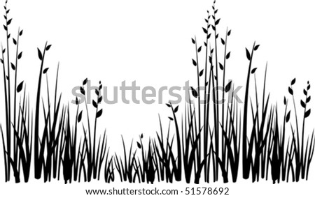 grass vector silhouette - stock vector