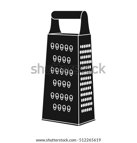 Grater Icon In Black Style Isolated On White Background. Kitchen Symbol  Stock Vector Illustration.