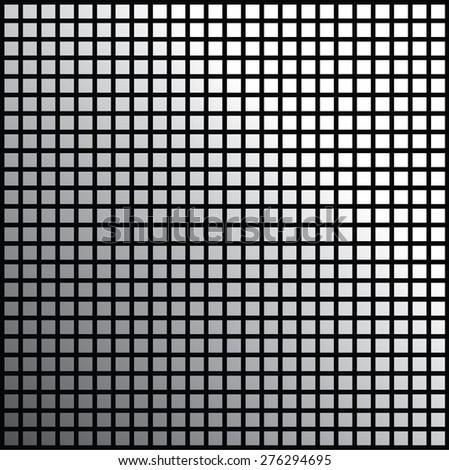 Grating square Background Black - stock vector