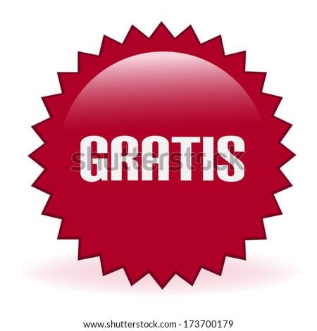 Gratis Promotional Sticker - stock vector