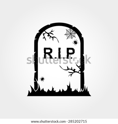 Gravestone Icon - stock vector