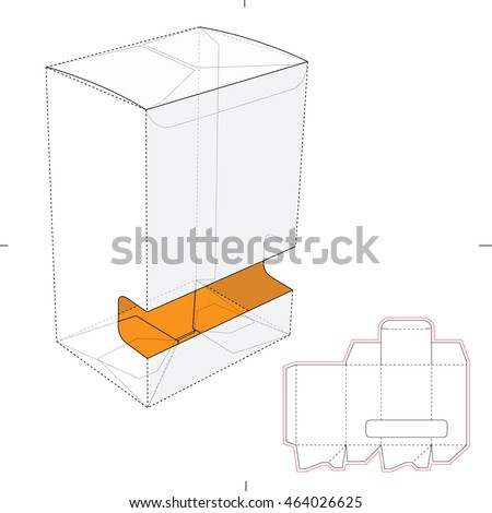 Gravity-Fed Dispenser Box with Die Cut Template