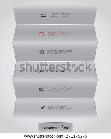 gray abstract design element - stock vector