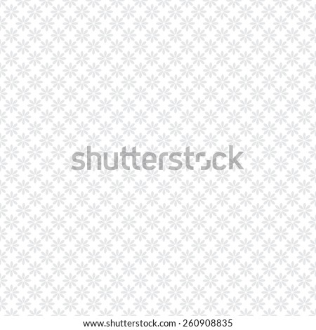 Gray and white  floral pattern. Vector illustration - stock vector