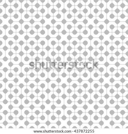Gray and white geometric seamless pattern, abstract background, vector, illustration. - stock vector