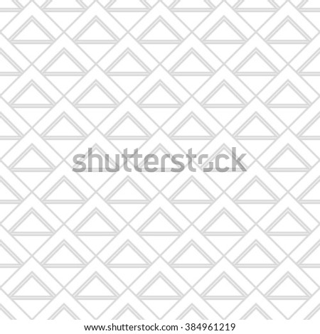 Gray and white geometric seamless pattern with triangle, abstract background, vector.