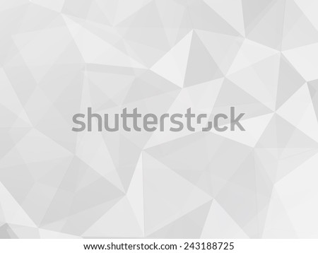 gray and white polygon geometric abstract background vector - stock vector