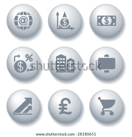 Gray ball set 23 - stock vector