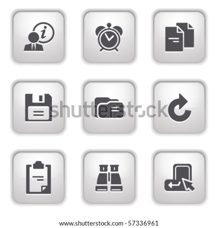 Gray button for internet 3 - stock vector