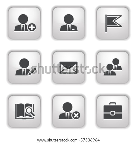 Gray button for internet 1 - stock vector