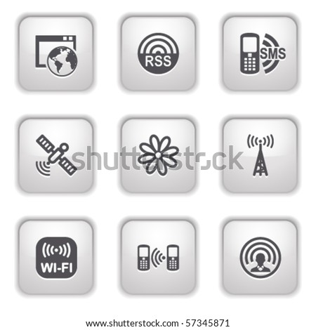 Gray button for internet 30
