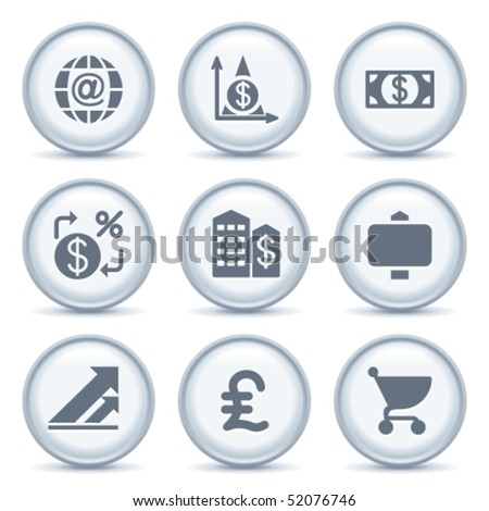Gray button with icon 23 - stock vector