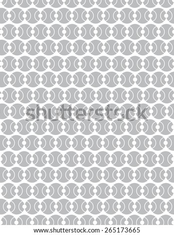 Gray circle pattern over white color background - stock vector
