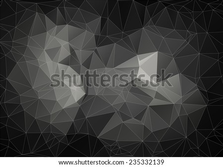 Gray composition with triangles geometric shapes - stock vector
