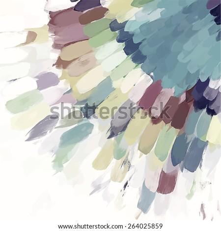 Gray corner brush strokes background. Vector version - stock vector