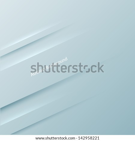 Gray 3D background. Vector illustration for your business presentation  - stock vector