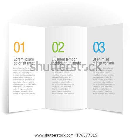 Gray design infographic template. vector Layout - stock vector