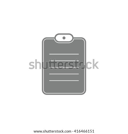 Gray document paper vector icon. Notes illustration. - stock vector