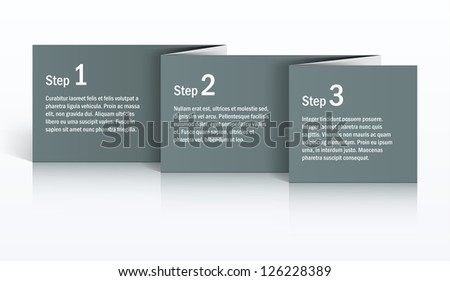 Gray folded paper background. EPS10 vector. - stock vector