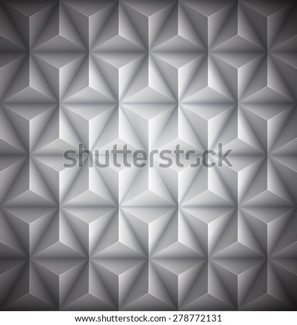 Gray Geometric abstract low-poly paper background. Vector illustration EPS 10 - stock vector