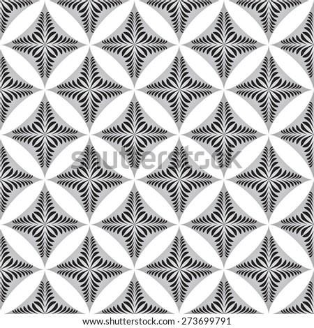 gray  graphic flower pattern abstract vector background. Modern stylish texture. - stock vector