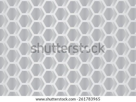 Gray hexagons geometric pattern. Vector illustration - stock vector