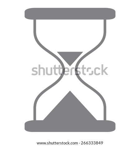 gray Hourglass time icon isolated vector