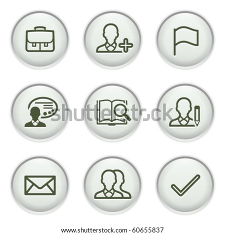 Gray icon with button 1 - stock vector