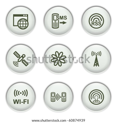 Gray icon with button 30 - stock vector