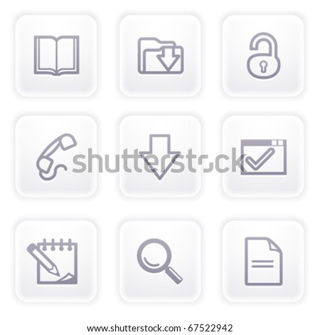 Gray icon with buttons 6 - stock vector