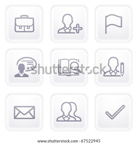 Gray icon with buttons 1 - stock vector