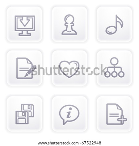 Gray icon with buttons 10 - stock vector
