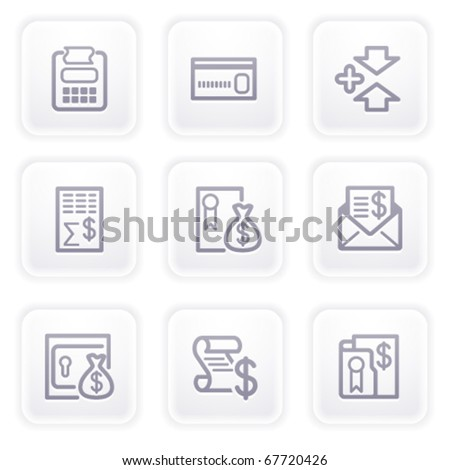 Gray icon with buttons 14 - stock vector