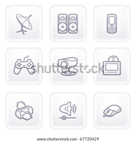 Gray icon with buttons 21 - stock vector