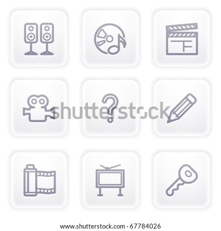 Gray icon with buttons 28 - stock vector