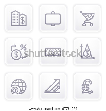 Gray icon with buttons 23 - stock vector