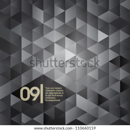 Gray isometric design template / suitable for infographics, graphic or web design - stock vector