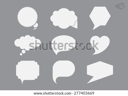 Gray labels of different shapes