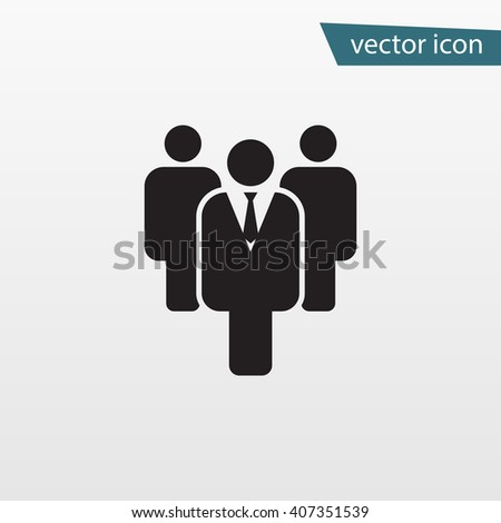 Gray Leader icon isolated on background. Modern flat pictogram, business, marketing, internet concept. Trendy Simple vector symbol for web site design or button to mobile app. Logo illustration  - stock vector