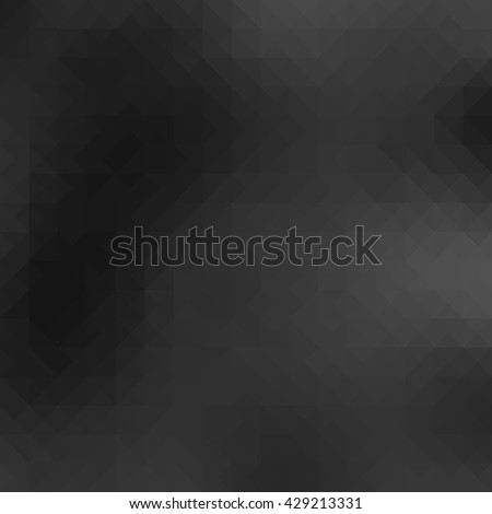 Gray polygonal illustration, low poly style vector - stock vector