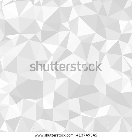 Gray Polygonal Mosaic Paper Background pattern crystal - stock vector
