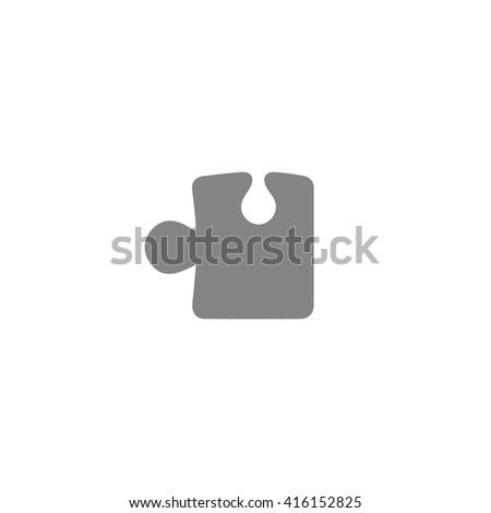 Gray puzzle icon vector illustration. - stock vector