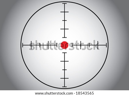 Gray sniper target. Vector illustration. - stock vector