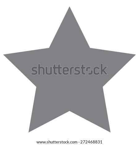 Gray Star vector icon - stock vector