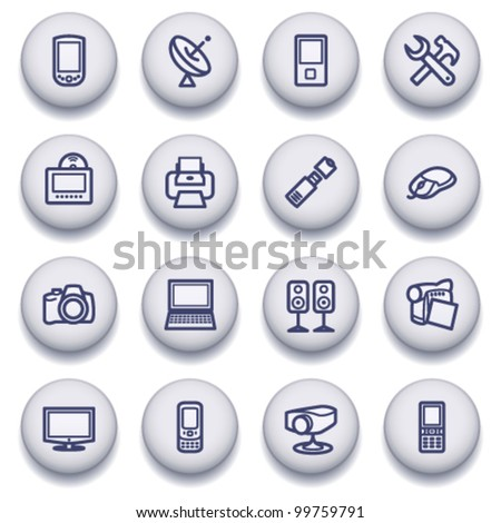 Gray symbols for web 5 - stock vector