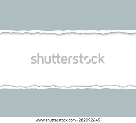 Gray Torn paper pieces. Paper with ripped edges. Design elements. Vector EPS10 illustration.  - stock vector