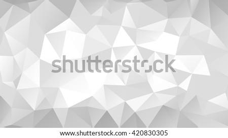 Gray triangular abstract background. Trendy vector illustration.  - stock vector