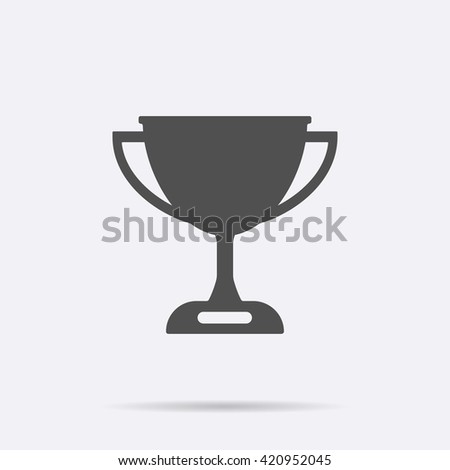 Gray Trophy icon isolated on background. Modern flat pictogram, business,  sport, internet concept. Trendy Simple vector symbol for web site design or button to mobile app. Logo illustration